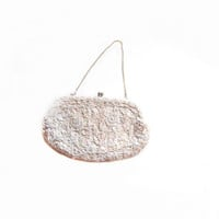 Vintage Glass Bead, Sequin Handbag / Purse