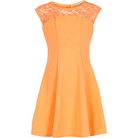 River Island Girls orange fit and flare occasion dress