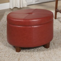 Salvatore Large Round Storage Ottoman