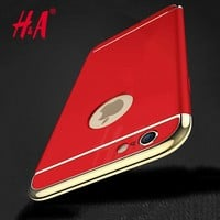 H&A Luxury Electroplating Phone Cases For iphone 6 7 Plus 5 5s SE Case Full Coverage Case For iphone 7 6 6s Plus Cover