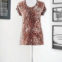 Eva Mendes Collection - Boyfriend Tee with High-Low Hem - City Leopard - New York & Company