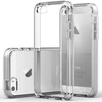 iPhone 5S Case, Caseology® [Fusion Series] Scratch-Resistant Clearback Cover [Clear] [Dual Bumper] for Apple iPhone 5S - Clear