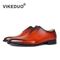 Handmade vintage retro Designer fashion Wedding party dance Office male dress Genuine Leather Men Oxford Shoes