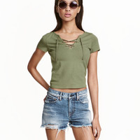 H&M Top with Lacing $12.99