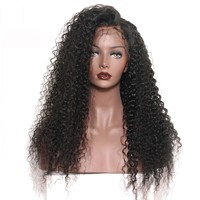 180 Density Kinky Curly Virgin Peruvian Glueless Lace Wig
