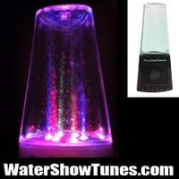Water Fountain Show Tunes Portable and Rechargeable Speaker works with SD card, USB, iPod, iphone, androids, cellphones, ipods, mp3 players and your computer (BLACK)