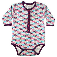Fozia Organic Purple Wave Pattern Onesuit