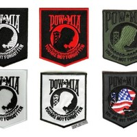 POW MIA Patches Set of 6 You Are Not Forgotten Patches
