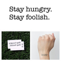 Hungry & Foolish - Temporary Tattoo (Set of 4)