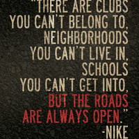 """Nike Running Quote 8"""" x 10"""" Poster // All Proceeds go to Haiti"""
