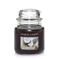 Coconut & Vanilla Bean : Medium Jar Candles : Yankee Candle