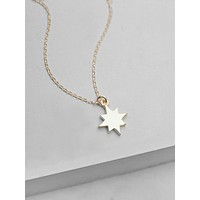 Star Initial Necklace - Gold