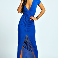 Isla Slinky Ruched Front Maxi Dress