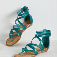 What's the Plan, Sand? Sandal in Lagoon | Mod Retro Vintage Sandals | ModCloth.com