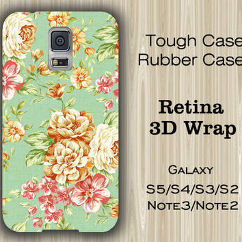 Green Floral Pattern Samsung Galaxy S5/S4/S3/Note 3/Note 2 Case