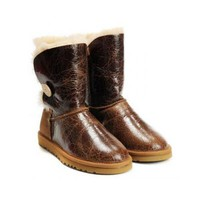 Black Friday Ugg Boots Bailey Button Pattern 1872 Jacket Chestnut For Women 108 90