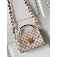 LV Louis Vuitton N50053 MONOGRAM LEATHER POCHETTE METIS INCLINED SHOULDER BAG From HOT BAGS