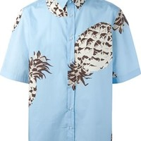 Msgm Pineapple Print Shirt - Firis - Farfetch.com