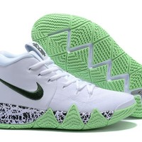 Nike Kyrie Irving 4 White/Dark Green Sport Shoes US7-12