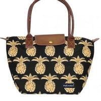 Simply Southern Pineapple Tote - Black