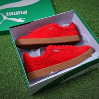 Best Online Sale Puma Basket Chammy Suede Red Men Casual Shoes