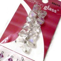 12 Clear Glass bead charms by Crochetedlittlethings on Zibbet
