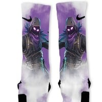 Fortnite Raven Custom Nike Elite Socks