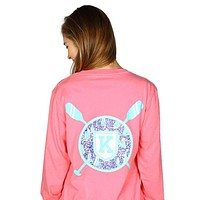 Long Sleeve Sailor's Delight Pocket Tee Shirt in Pink by Krass & Co.