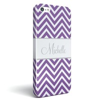 Chevron Personalized Monogrammed Phone Case iPhone 4 / 4S, iPhone 5 / 5S Galaxy S3, S4 Fashion Designer Cute Cover Zig Zag