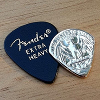 Premium Coin Guitar Pick - Handmade with a Vintage 1969 U.S. Quarter Proof Coin