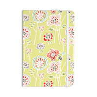 "Gill Eggleston ""Folky Floral Lemon"" Green Yellow Everything Notebook"
