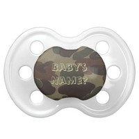 Army Camo BooginHead Baby Pacifier