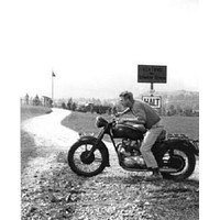 Steve Mcqueen poster Metal Sign Wall Art 8in x 12in Black and White