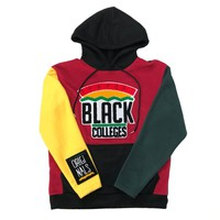 "Originals ""Support Black Colleges"" Polar Fleece Tech Hoodie in Red, Black, Yellow & Green"