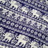 Navy Blue Elephant beach sarong, elephants lovers, elephant family, dark blue beach cover up, elephant beach wrap, elephant scarf, dress