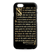 Game Of The Thrones Nights Watch iPhone 6 Case