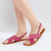 Warehouse Cross Front Slingback Sandal at asos.com