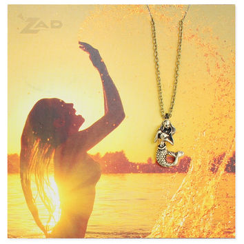 Gold Mermaid Charm Necklace
