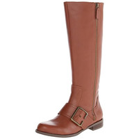 Nine West Womens Call Out Wide Calf Leather Riding Boots