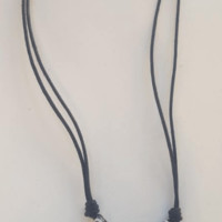 Shark Tooth Necklace with Black Spiral Bone Beads