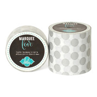 Heidi Swapp Marquee Love: Wide Silver Polka Dot Paper Washi Tape 2 Inch x 9 Feet