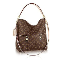 Authentic Louis Vuitton M¨¦lie Monogram Canvas Leather Shoulder Handbag Article:m41544
