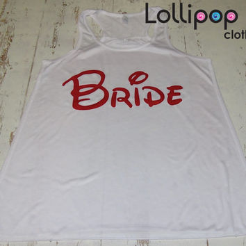 Bride .Gym Workout Running Tank. Funny Sexy. Racer Back. Walt Disney parody. Wedding Gift.Bachelorette party. Future mrs. Bridal shower