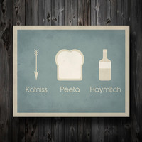 """Hunger Games Inspired / Katniss Peeta Haymitch / Simplest Definition Typography / 11"""" x 14"""" Poster Print"""