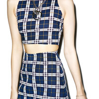 Motel Plaid Annie A-Line Skirt
