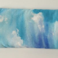 Sky and Clouds Soft Eye Glasses Case