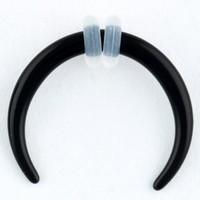 One Acrylic Pincher: 12g Black (SOLD INDIVIDUALLY. ORDER TWO FOR A PAIR.)