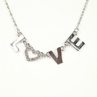 Short Necklace with Love and Stone Heart