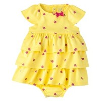Just One You™Made by Carter's® Infant Girls' Tiered Romper - Yellow