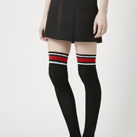 Sporty Triple Stripe Over The Knee Socks - New In Bags & Accessories - New In